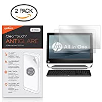 HP TouchSmart Elite 7320スクリーンプロテクター、BoxWave [ ClearTouchアンチグレア2- Pack]指紋防止マットフィルムスキンfor HP TouchSmart 11- Elite 7320