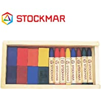 Stockmar(シュトックマー社) 蜜ろうクレヨン ブロック8色 スティック8色 木箱【ST32582】