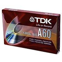 TDK標準グレードオーディオとディクテーションカセット、通常バイアス、60分(30x 2)