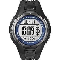 Marathon by Timex Men's T5K359 Digital Full-Size Black/Blue Resin Strap Watch