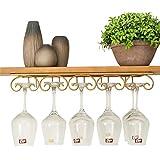 逆さワイングラスホルダーゴブレットホルダーリビングルームクリエイティブワインキャビネットゴブレットラック家庭用ぶら下げワインラック - ぶら下げ10カップ #++