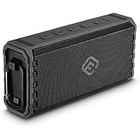 40s Bluetoothスピーカー 防水 IPX7 ポータブル アウトドア対応 bluetooth4.2 8Wx2 高音質 大音量 重低音強化/マイクロSD / ハンズフリー 通話 iPhone, Android確認済 正規販売1年保証 (ブラック)