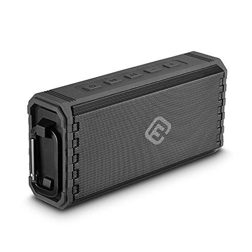 40s Bluetooth スピーカー IPX7 防水 (8Wx2 Bluetooth4.2) 大音量 高音質 重低音 SDカード【日本メーカー正規品 1年保証 技適OK】/iPhone Android対応/ハンズフリー ポータブル アウトドア お風呂 ブルートゥーススピーカー (ブラック)