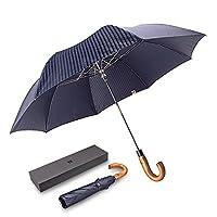 ドイツ(boy) 折りたたみ傘 高級傘 メンズ用 自動開き 丈夫 耐風 撥水 晴雨兼用 通勤 (濃藍色)
