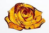 透明感抜群 彫綺麗 琥珀薔薇彫り9.9gルースno4