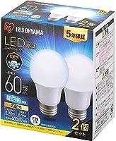 アイリスオーヤマ LED電球 E26 広配光 60W形相当 人感センサー/スリムタイプ 密閉器具対応 LDA4L-G-4T6