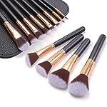 Mixoo メイクブラシ 12本セット 化粧筆 収納ポーチ付き 携帯用 高級繊維毛 化粧ブラシセット人気 超柔らかい