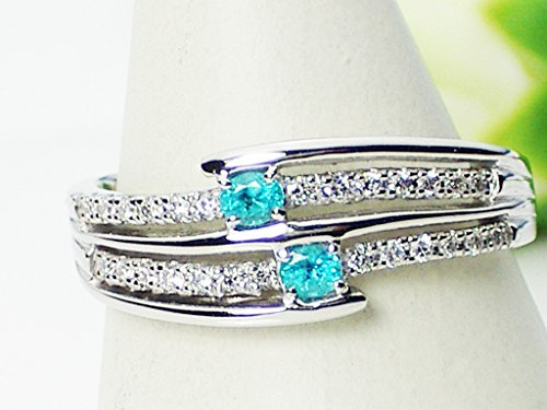 J-Jewelry プラチナ・濃いめ・パライバトルマリン・ダイヤモンド・ファッションリング・指輪