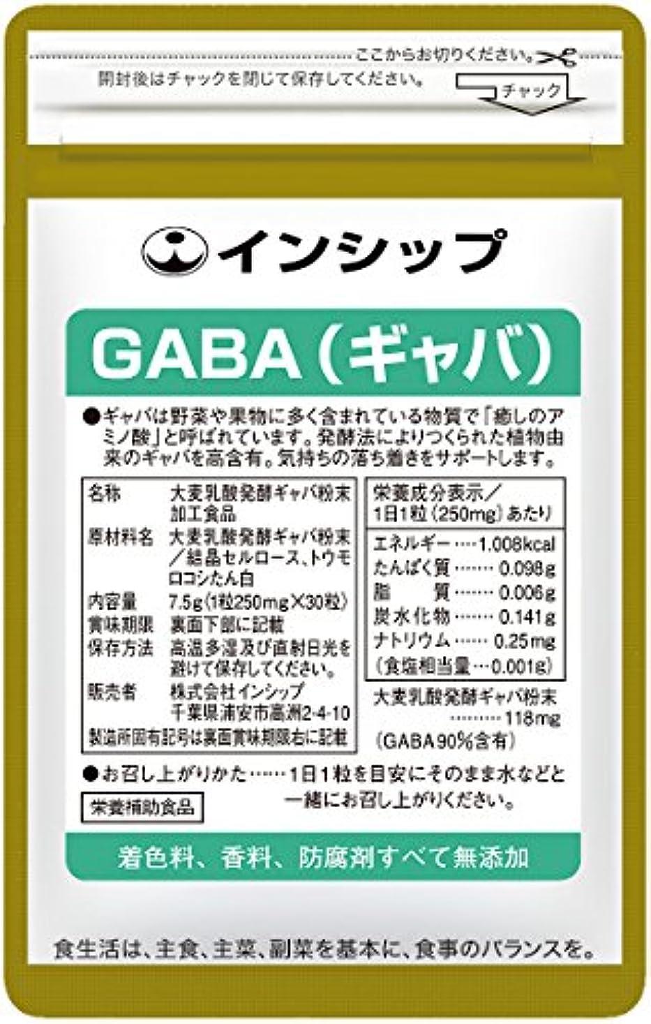 インシップ GABA(ギャバ) 250mg×30粒 1ヶ月分