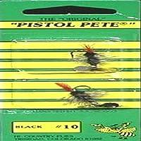 Pistol Pete Hi-Country Fishing Flies, Size 10, Black [並行輸入品]