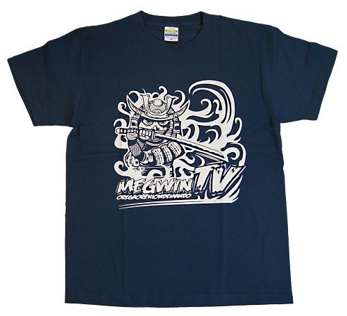 MEGWIN TV Tシャツ サムライ ネイビー (M)