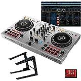 "Pioneer DJ パイオニア DDJ-400-S ""シルバー"" + PCスタンドセット 国内池部楽器店限定モデル"