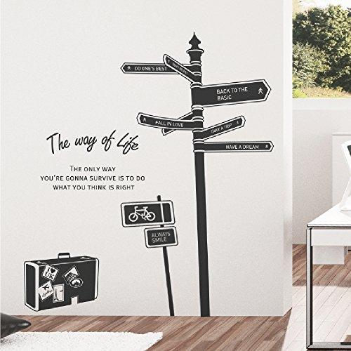 RoomClip商品情報 - SANGSANGHOO(サンサンフー) ウォールステッカー ザウェイ (ブラック) GS0135300