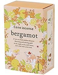 サンハーブ お香 コーンタイプ ベルガモット 16粒(インセンス 燃焼時間約20分 懐かしい甘酸っぱい香り)