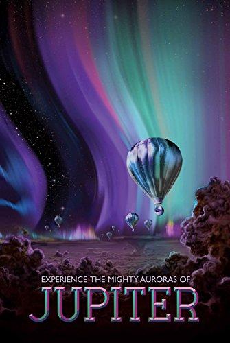 NASA 宇宙旅行ポスター ジュピター 木星 シルク調 ファブリック アート 約60×90cm [並行輸入品]