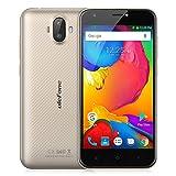 """Ulefone S7 スマートフォン 5"""" HD 720x1280P 耐衝撃コーニングゴリラガラス3スクリーン ジュアルカメラ 5MP 8MP+5MP デュアルスタンバイ(au不可)MTK6580 1.3GHzクアッドコア 1GB RAM+8GB ROM スマートoff-screen ジェスチャー Android 7 (ゴールド)"""