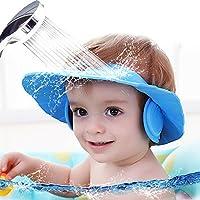 シャンプーハット MAMBOBABY お風呂 子供 サイズ 調整可能 防水帽 幼児/赤 ちゃん/子供/大人用 (ブルー)