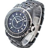 CHANEL(シャネル) J12 38mm 11Pダイヤ メンズ腕時計 (中古) H2124 クォーツ ブラック セラミック/SS 11Pダイヤインデックス [並行輸入品]