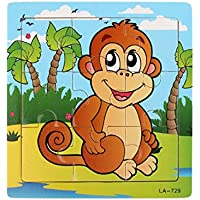 Franterd, Baby Kids Wooden Monkey Educational Developmental Training Puzzle Toy