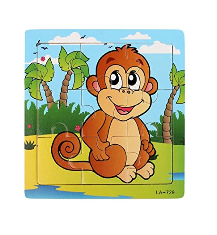 Franterd, Baby Kids Wooden Monkey Educational Developmental Training Puzzle Toy