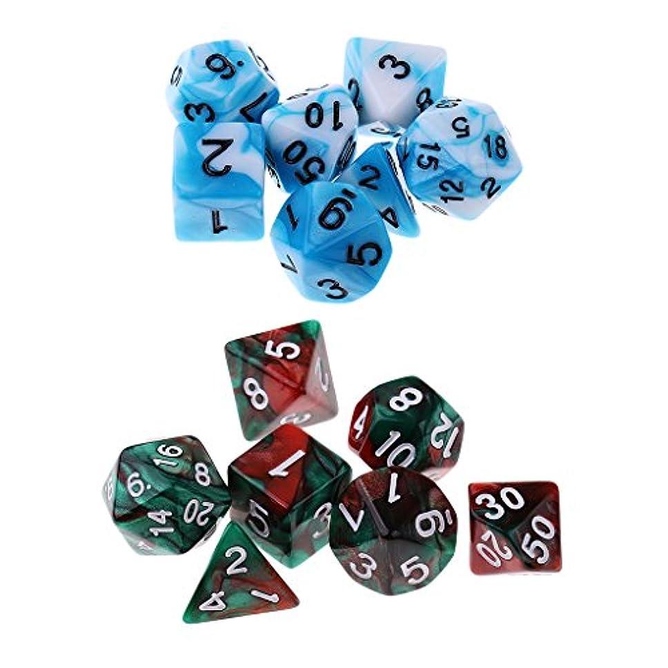 ますます移行過ちサイコロ 骰子 ダイス 多面体 アクリル 卓上ゲーム道具 贈り物 14個入