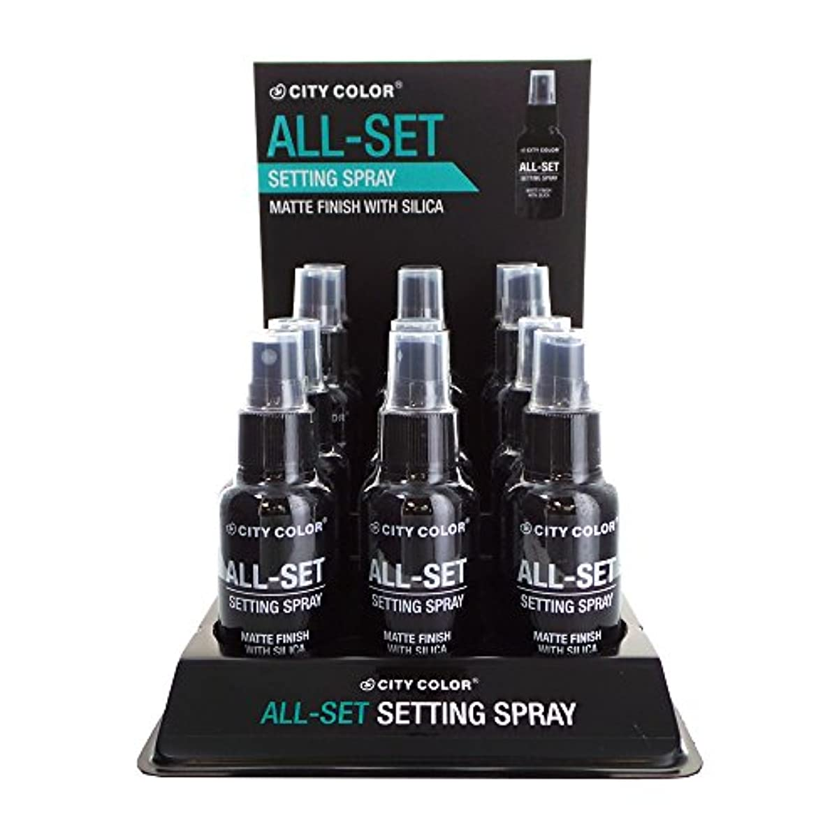 縫い目鋸歯状団結CITY COLOR All-Set Setting Spray Display Set, 12 Pieces (並行輸入品)