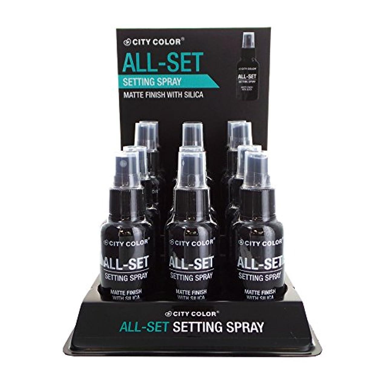 懺悔スクランブル重くするCITY COLOR All-Set Setting Spray Display Set, 12 Pieces (並行輸入品)