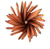 byqsクレヨンセット水溶性カラーペンシル24色油性の専門ブラシアートは、手描きのカラーペンシル+貯蔵ボトル美術品