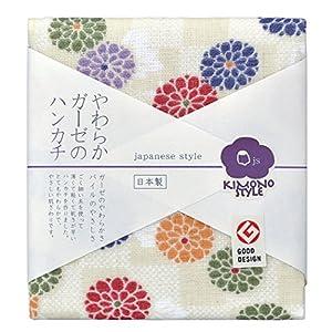 日繊商工 japanese style KIMONO STYLE 小紋菊 ハンカチ JS-3506