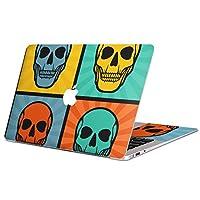 MacBook Pro 13inch 専用スキンシール マックブック 13inch 13インチ Mac Book Pro マックブック プロ ノートブック ノートパソコン カバー ケース フィルム ステッカー アクセサリー 保護 ジャンル その他 ドクロ 骸骨 カラフル イラスト 007400