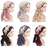 K-Elewon Womens Fashion Scarves Loose Headscarf Shawl Head Wear Head Wrap Bright colors silk fold Turban Headband
