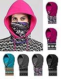 (リグリ) LIGLI ネックウォーマー フェイスマスク 男女兼用 4way 吹雪も安心 フード一体型 収納袋セット グレー01 フリーサイズ