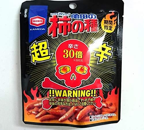 亀田製菓 亀田の柿の種 超辛30倍 激辛注意 1袋30g×3(3袋セット)
