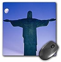 3drose LLC 8x 8x 0.25Brazil Rio De Janeiro Christ The Redeemer Tom Haseltineマウスパッド(MP 85782_ 1)