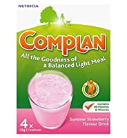 Complan Strawberry Flavour Nutritional Drink 4 x 55g - Complanイチゴ味の栄養ドリンク4×55グラム (Complan) [並行輸入品]