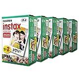 Fujifilm Instax Mini 100?Film for Fuji 7s 8?25?50s 90?300インスタントカメラ、共有sp-1ホワイト、パックの5