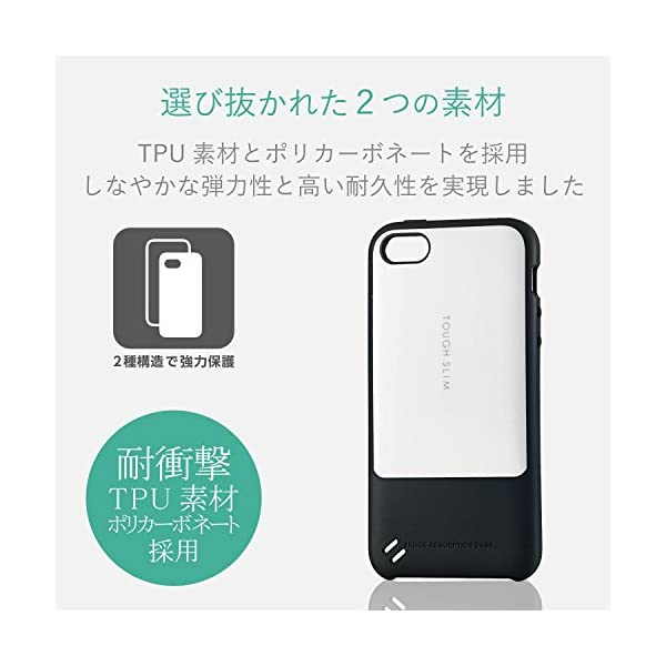 エレコム iPhone SE ケース 衝撃吸収...の紹介画像3