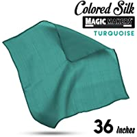 Magic Makers Professional Grade 36 Inch Magician's Silk (Turquoise)