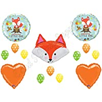 Fox welcomeベビーシャワーBalloons Decoration Supplies Fox ChevronウッドランドForrest Friends
