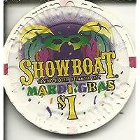 $ 1 showboat Mardi GrasカジノチップAtlantic City Obsolete