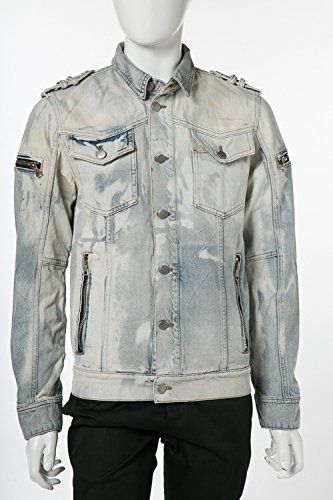 (バルマン) BALMAIN デニムジャケット Gジャン デニム メンズ (S8H 2068 T332) 【並行輸入品】