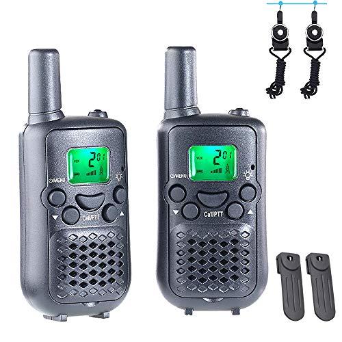 特定小電力トランシーバー 2台セット wesTayin-T899 免許・資格不要 無線 トランシーバー 首掛けストラップ付き 小型軽量 手のひらサイズ 10mW 低放射線、高音質、屋内野外活動、ホリデーギフトに最適 ブラック 総務省技術基準適合商品