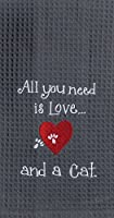 Kay Dee Designs F0783 Cat Love Embroidered Waffle Towel by Kay Dee