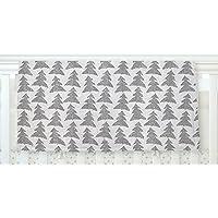 KESS InHouse Michelle Drew Herringbone Forest Black Gray White Fleece Baby Blanket 40 x 30 [並行輸入品]