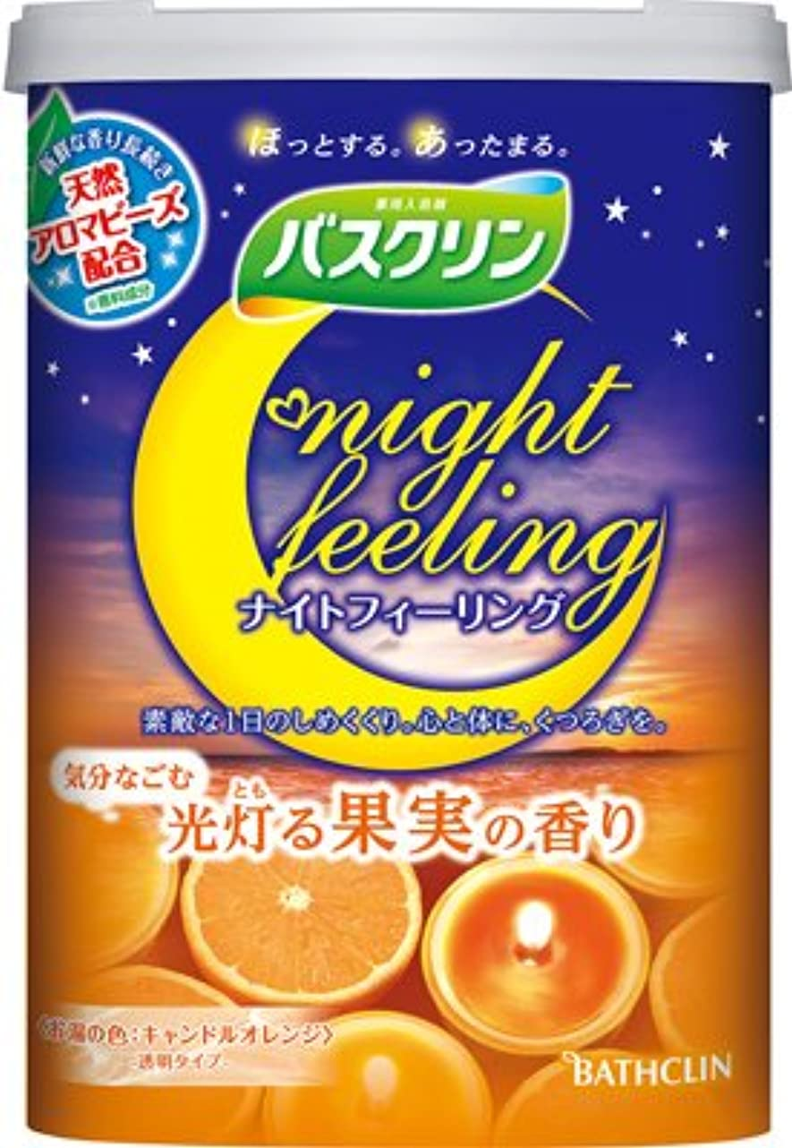はがき創造不道徳バスクリン ナイトフィーリング 気分なごむ光灯る果実の香り 600g × 15個セット