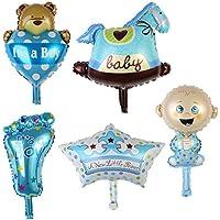 SONONIA ベビーシャワー バルーンセット  箔  誕生日  パーティー 素晴らしい  装飾  子供   全2色選べ - 青
