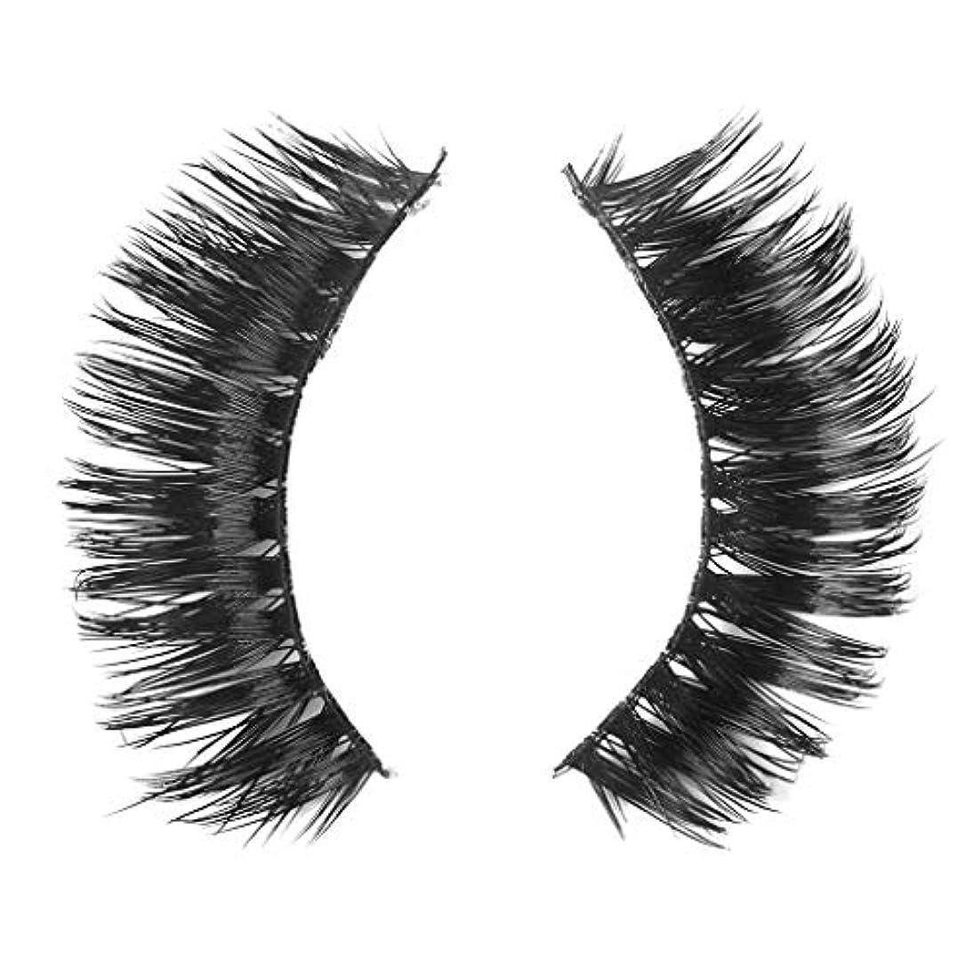 分配します絶えずひもミンクの毛の自然な厚くなる化粧品の3D版のための一組のまつげ