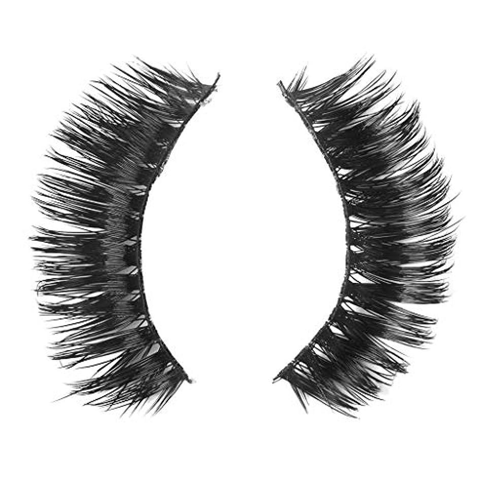 形容詞気楽な安いですミンクの毛の自然な厚くなる化粧品の3D版のための一組のまつげ