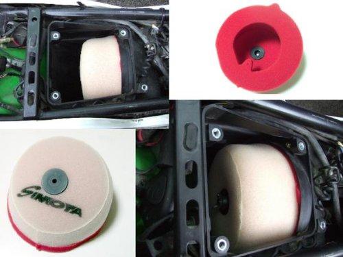 KLX250 Dトラッカー/X KDX220 250SB  純正交換タイプ高効率エアフィルター (ハイフロー) 吸気効率UP! D-TRACKER