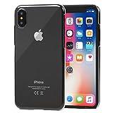 【Gadiel】 iPhone X クリア ケース カバー 高品質 透明 ハードケース アイフォンを傷からガード iPhoneX 専用 ワイヤレス充電対応 オリジナルクリーナークロス付属 (iPhoneX ハードタイプ)